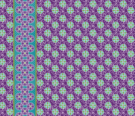 TripleBorderHeatherfab fabric by littlebear on Spoonflower - custom fabric