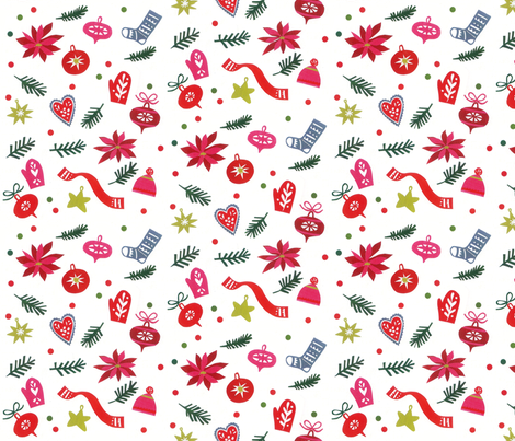 Christmas Ornaments No.2 fabric by nsta on Spoonflower - custom fabric