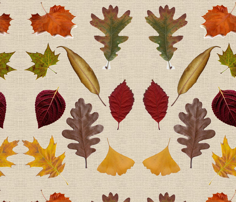 Fall Leaves-275 fabric by kkitwana on Spoonflower - custom fabric