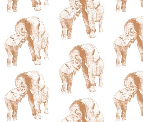 elephant's secret fabric by maghee on Spoonflower - custom fabric