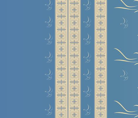 Prairie Girl Border Print Large © 2010 Gingezel Inc. fabric by gingezel on Spoonflower - custom fabric