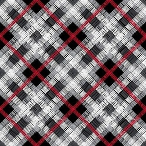 GoBaggery Whimsicle Tartan - Red/White/Black