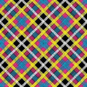 GoBaggery Whimsicle Tartan - Pink/Yellow/Blue/White/Black