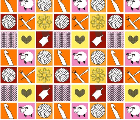Yarn goodness warm fabric by lovelyarns on Spoonflower - custom fabric