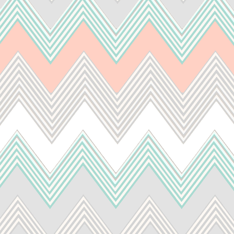 Blush Chevron fabric by joanmclemore on Spoonflower - custom fabric