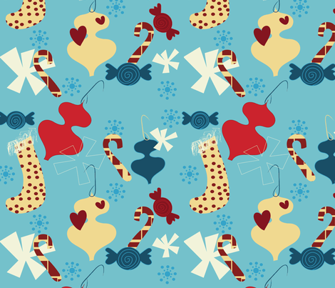 Pot Luck Christmas fabric by sbd on Spoonflower - custom fabric