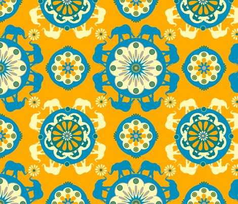 Elephant Orange fabric by royalforest on Spoonflower - custom fabric