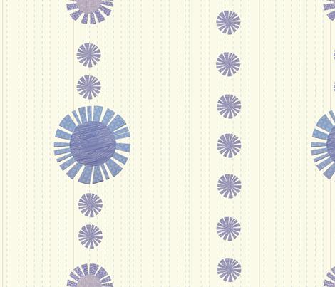 paperdaisiesstripes fabric by nightgarden on Spoonflower - custom fabric