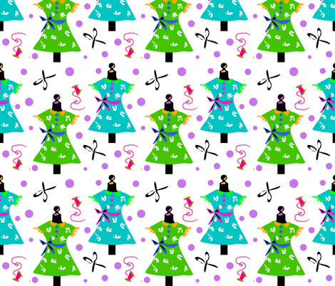 Tailoress Tess fabric by ikki_pokki on Spoonflower - custom fabric