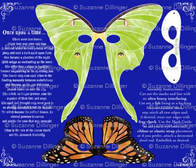 Lunar Moth and Monarch Masks