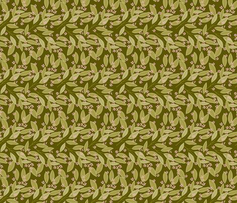 eucalyptus,olive fabric by cindylindgren on Spoonflower - custom fabric