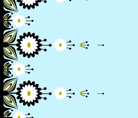 peacockborder2 fabric by renule on Spoonflower - custom fabric