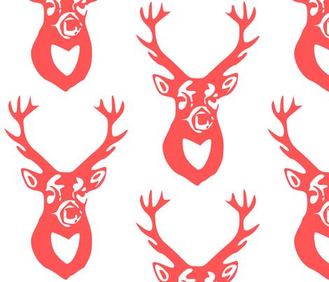 Deer fabric by efolsen on Spoonflower - custom fabric