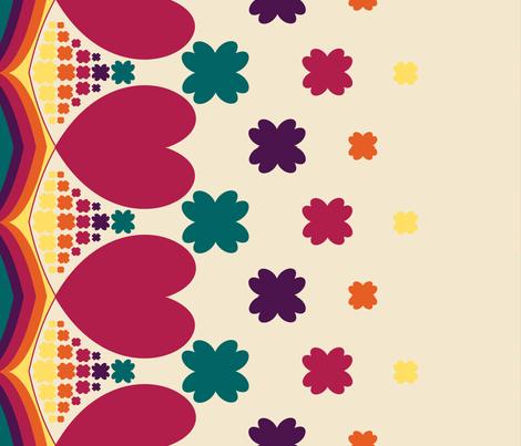 Heart in Love fabric by kaddy_w on Spoonflower - custom fabric