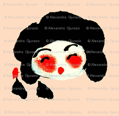 Kokeshi Dollhead Blossom