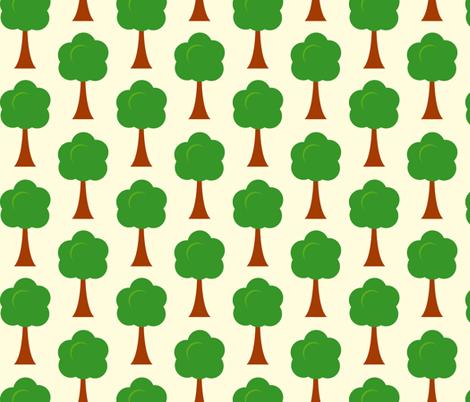 Swedish trees fabric by kaddy_w on Spoonflower - custom fabric