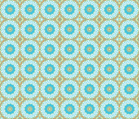 Fountain Mosaic fabric by inscribed_here on Spoonflower - custom fabric