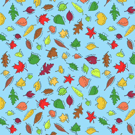 happy autumn, blue sky fabric by weavingmajor on Spoonflower - custom fabric