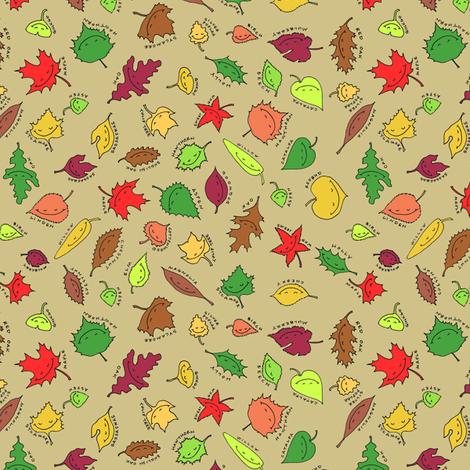 happy autumn, sandy beach fabric by weavingmajor on Spoonflower - custom fabric