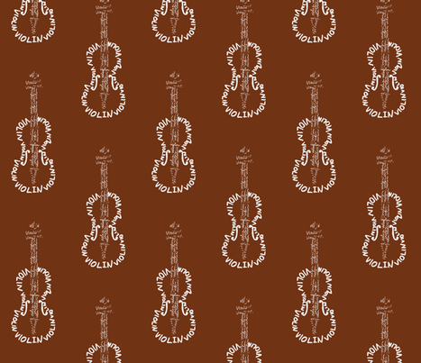 Violin Calligram fabric by blue_jacaranda on Spoonflower - custom fabric