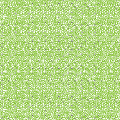 Hippie Flowers in Lime Green Mini Print