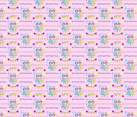 BFF Stickies fabric by debbiek on Spoonflower - custom fabric