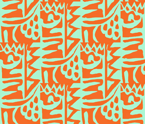Stucco in the cool shade 2 fabric by susaninparis on Spoonflower - custom fabric