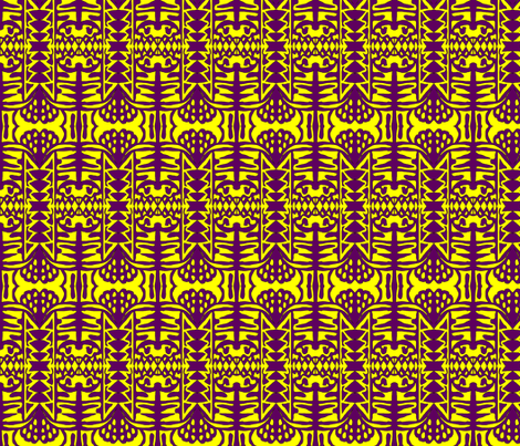 Lavender and mustard fields 2 fabric by susaninparis on Spoonflower - custom fabric