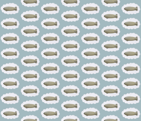 Dreaming of Airships fabric by the_vintage_moth on Spoonflower - custom fabric