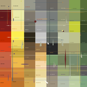 77 Colors with RBG number values o