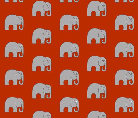 Orange Elephant fabric by nuuk on Spoonflower - custom fabric