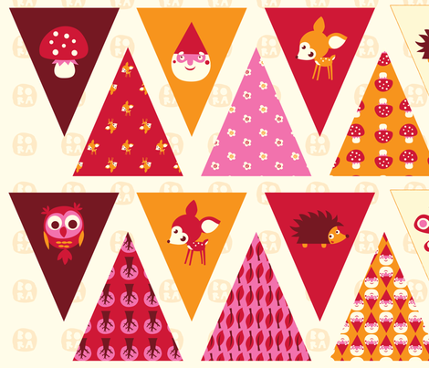 Litte Forest - Bunting fabric by bora on Spoonflower - custom fabric