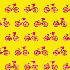 Magenta Bicycle on Sunshine