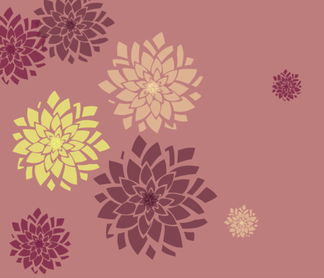 dahliaborder fabric by rose'n'thorn on Spoonflower - custom fabric