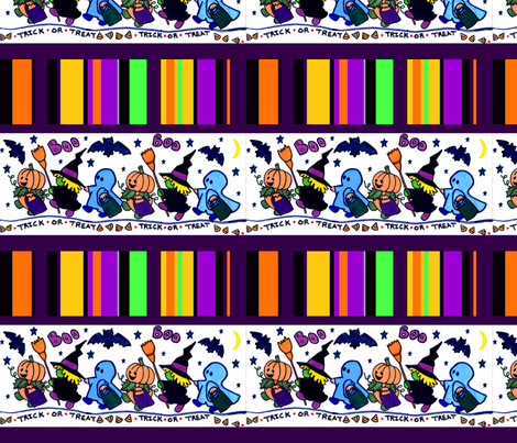 Halloween Border fabric by hipmama on Spoonflower - custom fabric