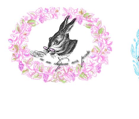 Bird, Butterfly & Bunny fabric by marionwilhelm on Spoonflower - custom fabric