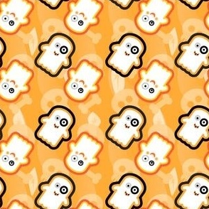 Lil__Ghosties_orange_background