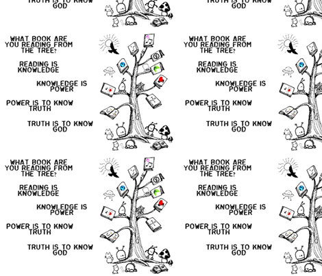 What book Are you (book tree) fabric by kalektive_flair's_designs on Spoonflower - custom fabric
