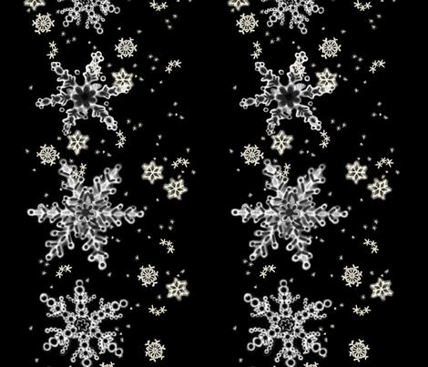 Snowflake Border fabric by juliamonroe on Spoonflower - custom fabric