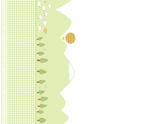 Cute Mountain Range fabric by rhinestic on Spoonflower - custom fabric