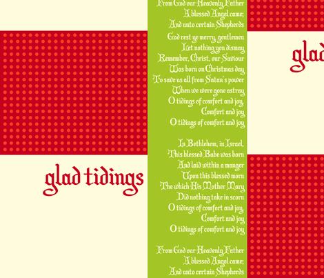 christmas_carol_glad_tidings fabric by featheredneststudio on Spoonflower - custom fabric