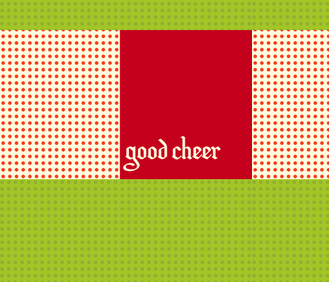 christmas_carol_good_cheer fabric by featheredneststudio on Spoonflower - custom fabric