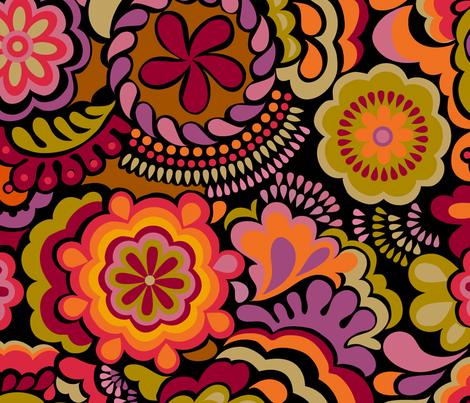 Autumn Swirls_large scale fabric by chulabird on Spoonflower - custom fabric