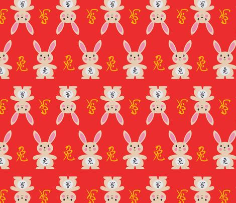 yearoftherabbit_red fabric by sharlenebaldwin on Spoonflower - custom fabric
