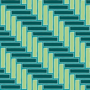 Herringbone Teal
