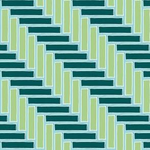 Herringbone Aqua