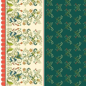 Floral Christmas in green