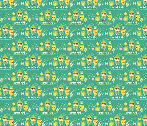 Kawaii Friends fabric by smilerecipe on Spoonflower - custom fabric