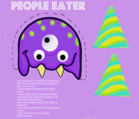 People Eater Mask fabric by namastemama on Spoonflower - custom fabric
