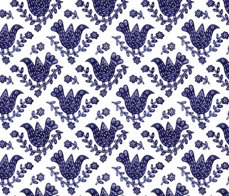 BlueBird fabric by yellowstudio on Spoonflower - custom fabric